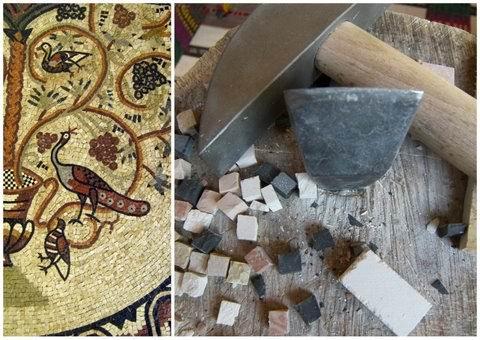atelier sp cial de weekend de mosa que romaine avec l utilisation de la marteline et tranchet. Black Bedroom Furniture Sets. Home Design Ideas